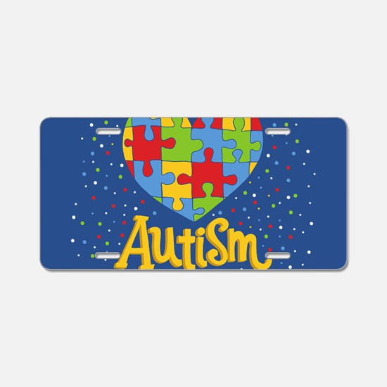 autism awareness month Aluminum License Plate