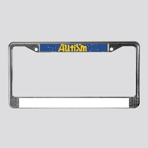 autism awareness month License Plate Frame