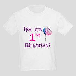 It's My 1st Birthday Kids Light T-Shirt