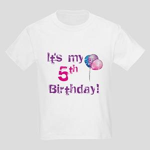 It's My 5th Birthday Kids Light T-Shirt
