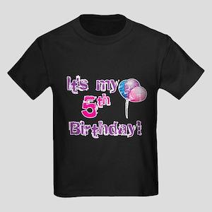 It's My 5th Birthday Kids Dark T-Shirt