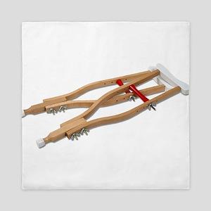 WoodenCrutches081210 Queen Duvet