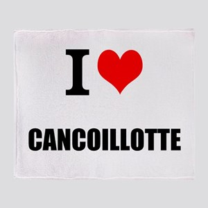 I Love Cancoillotte Throw Blanket