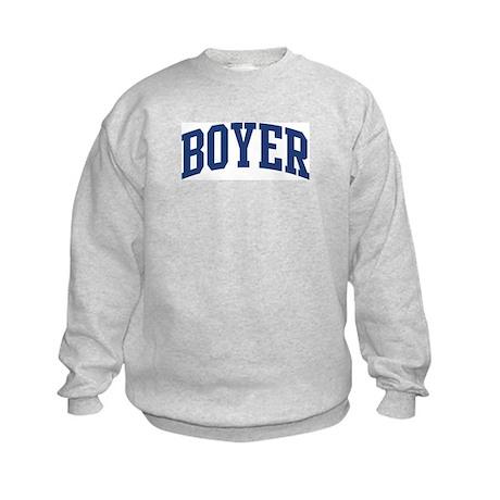 BOYER design (blue) Kids Sweatshirt