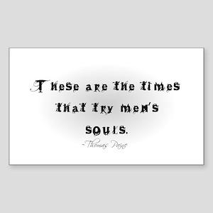 Thomas Paine Quote Rectangle Sticker