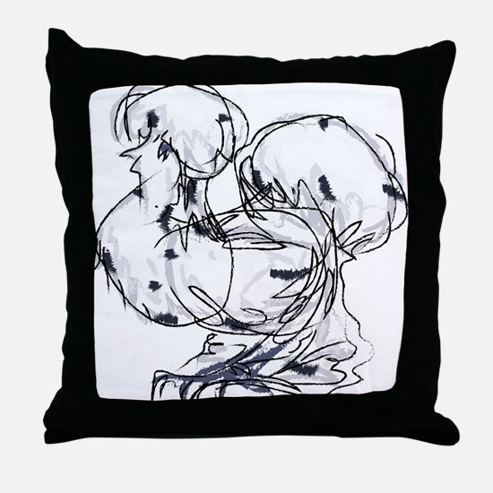 Unique Silkie chickens Throw Pillow