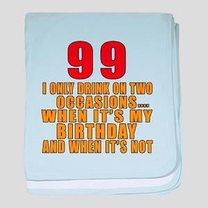 99 Birthday Designs baby blanket