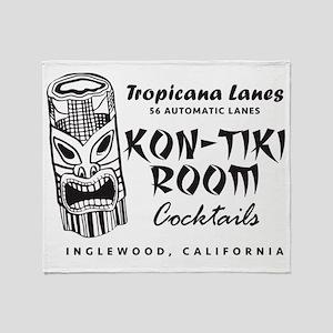 Inglewood, CA, Kon-Tiki Lounge Throw Blanket