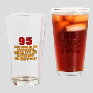 95 Birthday Designs Drinking Glass