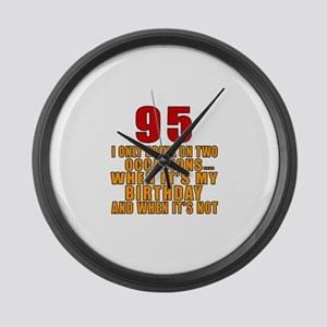 95 Birthday Designs Large Wall Clock