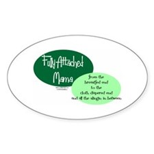 Fully Attached Mama Oval Sticker