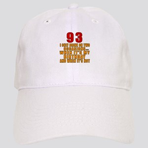 93 Birthday Designs Cap