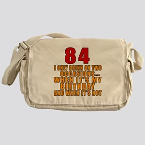 84 Birthday Designs Messenger Bag