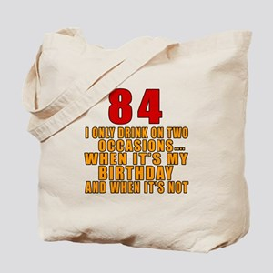84 Birthday Designs Tote Bag