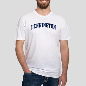 BENNINGTON design (blue) Fitted T-Shirt