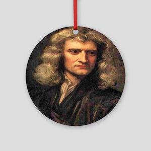 Isaac Newton Round Ornament