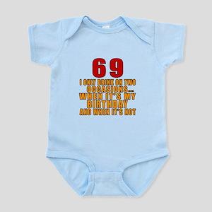 69 Birthday Designs Infant Bodysuit