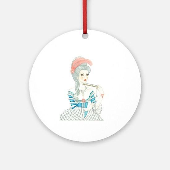Marie Antoinette Round Ornament