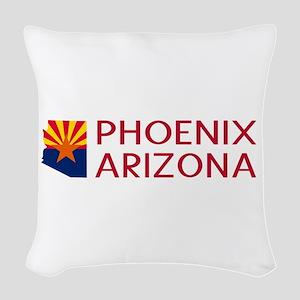 Arizona: Phoenix (State Shape Woven Throw Pillow