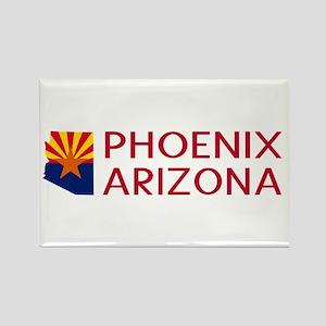 Arizona: Phoenix (State Shape & F Rectangle Magnet