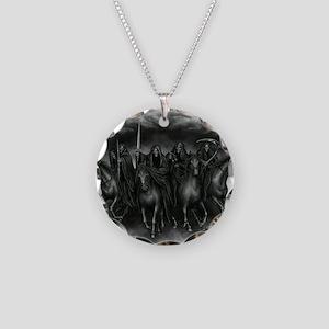 death crew Necklace Circle Charm