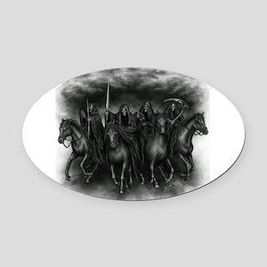 death crew Oval Car Magnet