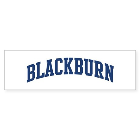 BLACKBURN design (blue) Bumper Sticker