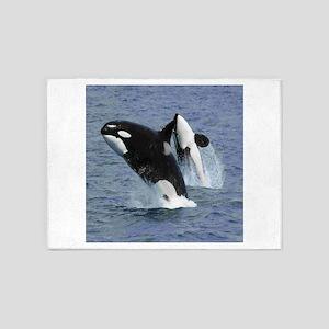 Killer Whales 5'x7'Area Rug
