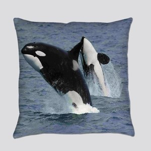 Killer Whales Everyday Pillow