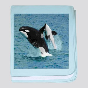 Killer Whales baby blanket