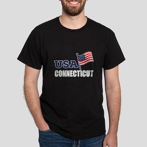 Connecticut State Designs Dark T-Shirt