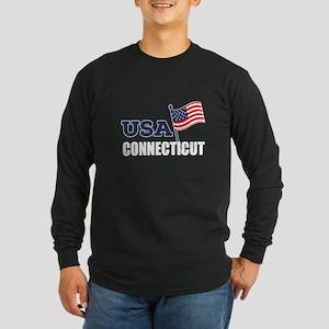 Connecticut State Designs Long Sleeve Dark T-Shirt