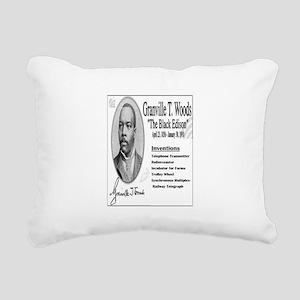 Granville T Woods Rectangular Canvas Pillow