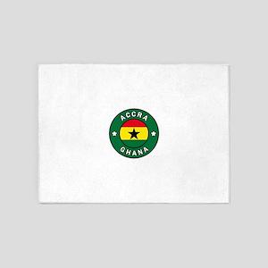 Accra Ghana 5'x7'Area Rug