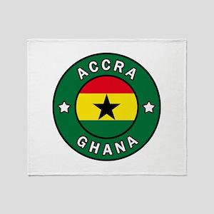 Accra Ghana Throw Blanket