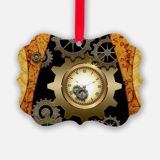 Awesome steampunk design with clocks and gears Orn