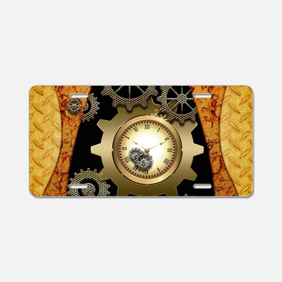 Awesome steampunk design with clocks and gears Alu