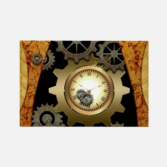 Awesome steampunk design with clocks and gears Mag