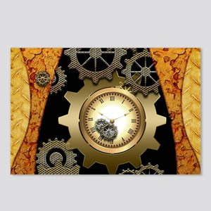 Awesome steampunk design with clocks and gears Pos
