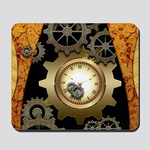 Awesome steampunk design with clocks and gears Mou