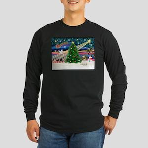 XmasMagic/Shih Tzu pup Long Sleeve Dark T-Shirt