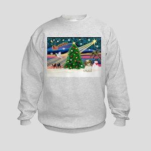 XmasMagic/Shih Tzu pup Kids Sweatshirt