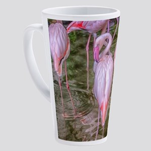 Pink Flamingos 17 oz Latte Mug