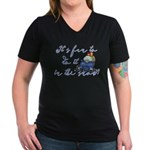 It's fun to do it.... Women's V-Neck Dark T-Shirt