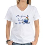 It's fun to do it.... Women's V-Neck T-Shirt
