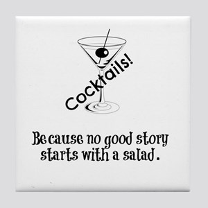 Cocktail Story Tile Coaster
