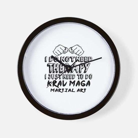I Just Need To Do Krav Maga Wall Clock