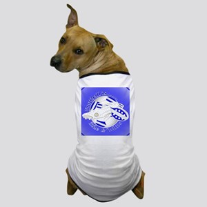 Blue and White Football Soccer Dog T-Shirt