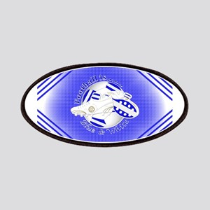 Blue and White Football Soccer Patch