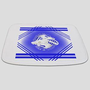 Blue and White Football Soccer Bathmat